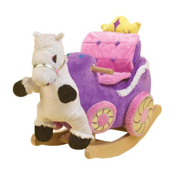 Princess Carriage Plush Rocker