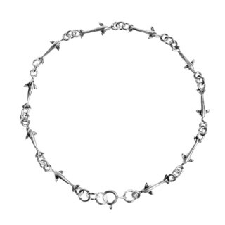 Serene Swimming Dolphin Link .925 Sterling Silver Bracelet (Thailand)
