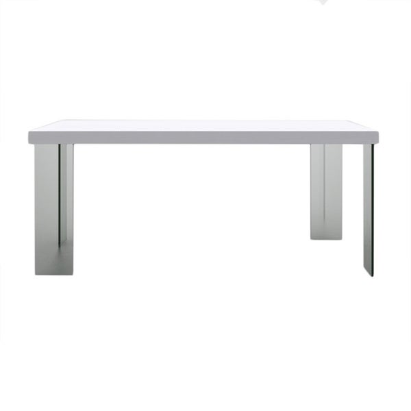 Argo Timber Dining Table with Glass Legs