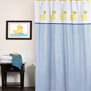 Classic Rubber Ducky Water Resistant Fabric Shower Curtain