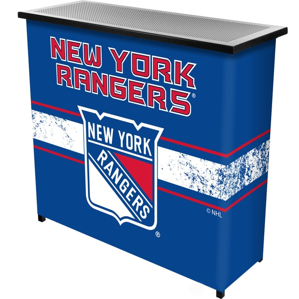 NHL Portable Bar with Case - New York Rangers
