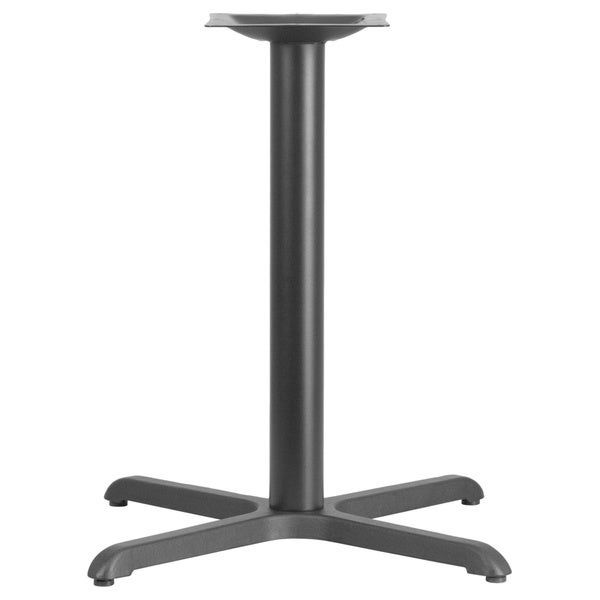 black restaurant table base