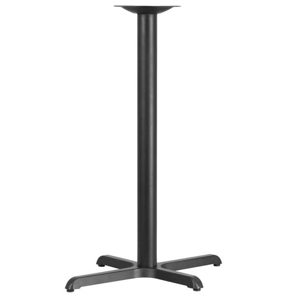black restaurant table base