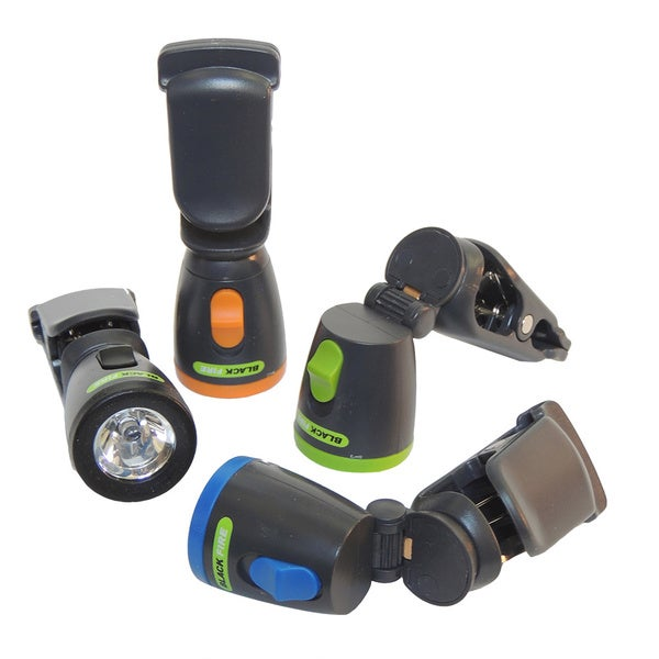 Blackfire LED Mini Clamp Light Flashlight (Pack of 12)