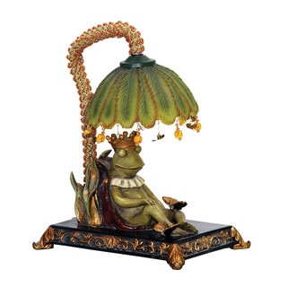 Sterling Sleeping King Frog Mini Lamp