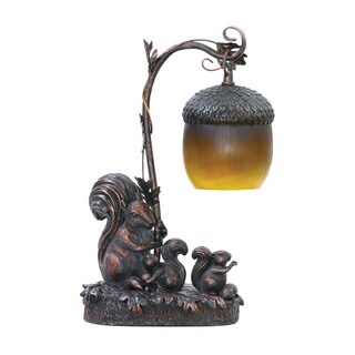 Sterling Squirrel Acorn Mini Accent Table Lamp