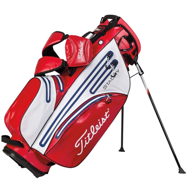 Titleist StaDry Waterproof Red/White/Navy Stand Bag