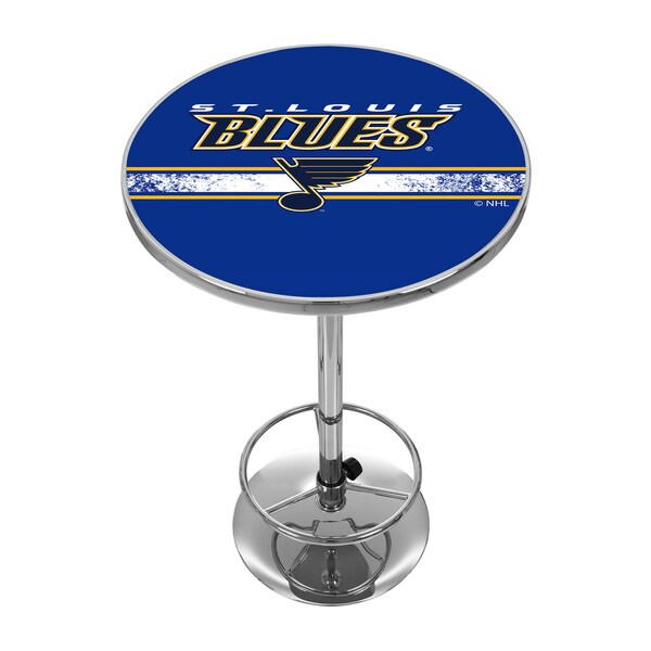 NHL Chrome Pub Table - St. Louis Blues