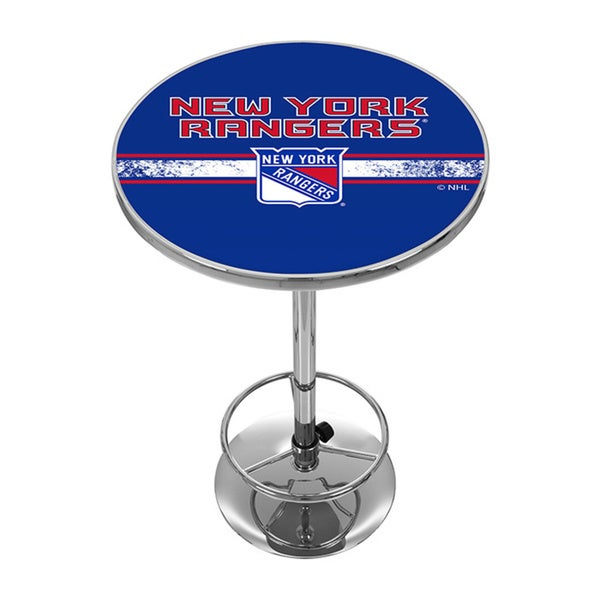 NHL Chrome Pub Table - New York Rangers