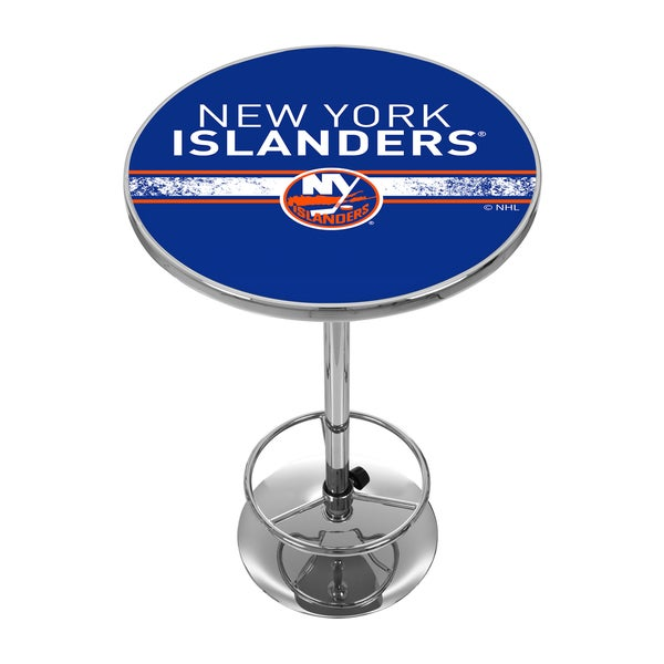 NHL Chrome Pub Table - New York Islanders