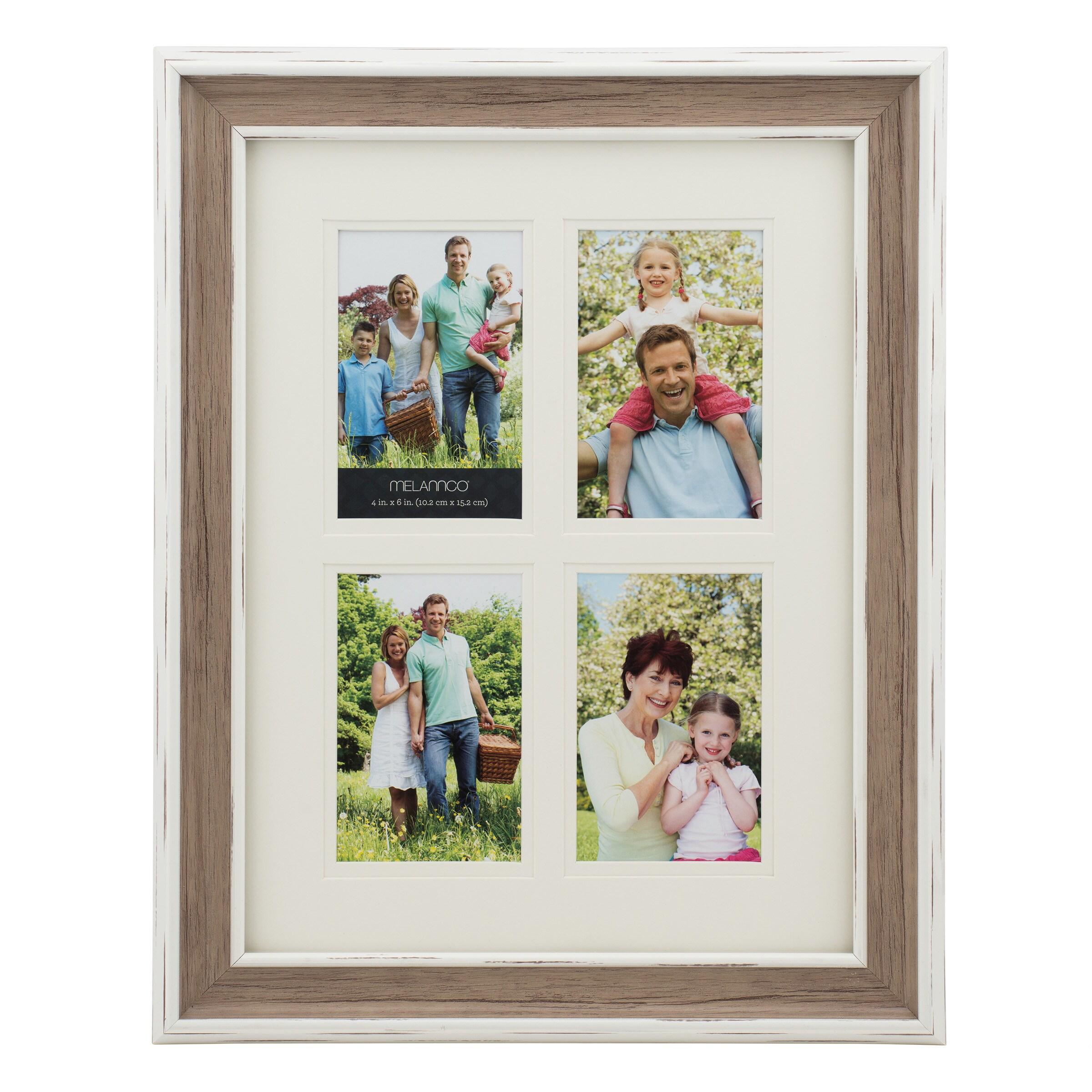 5 opening frame 4x6 melannco 4 opening 4x6 wood grain collage jeuxipadfo Images