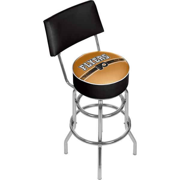 NHL Swivel Bar Stool with Back - Philadelphia Flyers 16572523