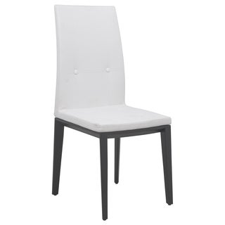 Somette Somers White Faux Leather Dining Chair
