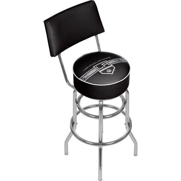 NHL Swivel Bar Stool with Back - Los Angeles Kings