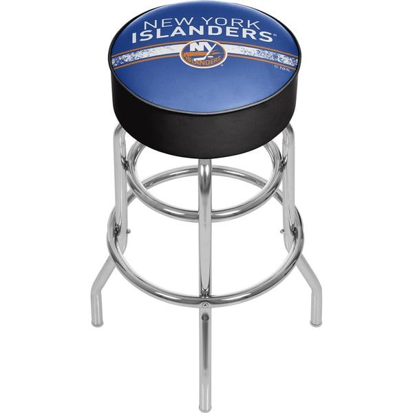 NHL Chrome Bar Stool with Swivel - New York Islanders