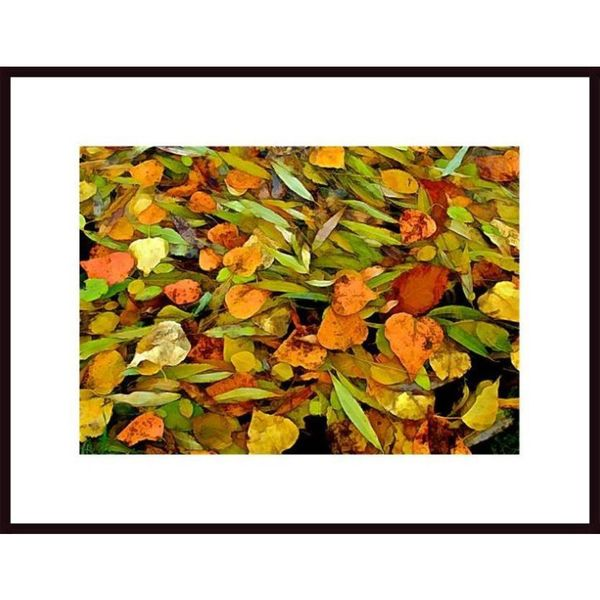 John Nakata 'Autumn Leaves Abstract' Framed Art