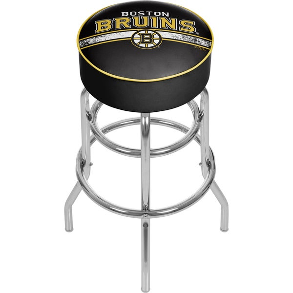 NHL Chrome Bar Stool with Swivel - Boston Bruins 16572730