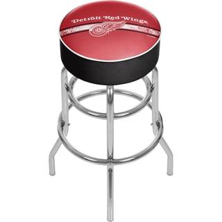 NHL Chrome Bar Stool with Swivel - Detroit Redwings