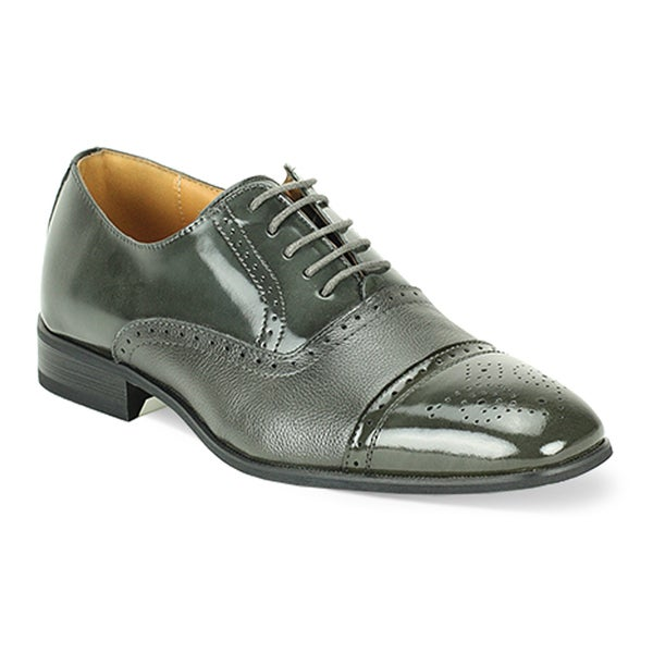Giorgio Venturi Men's Black and Grey Oxford Shoes