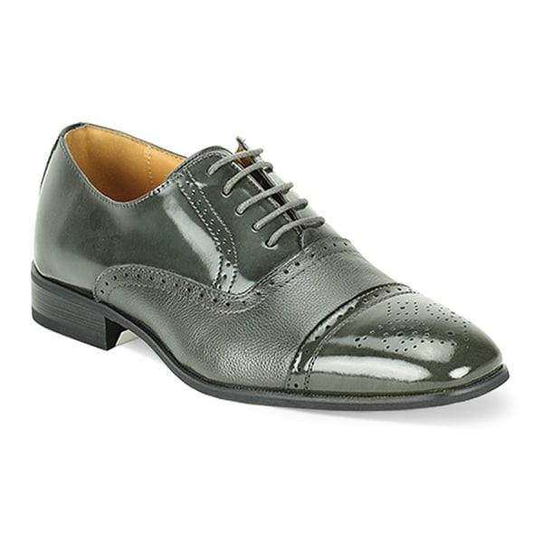 Giorgio Venturi Men's Black and Grey Oxford Shoes