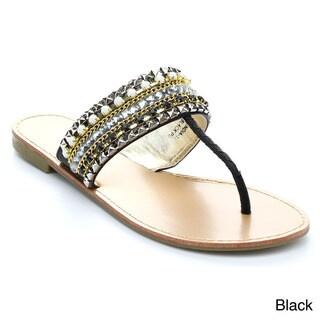 Anne Marie Women's India-1 Rhinestone Slip-On Bling Sandals