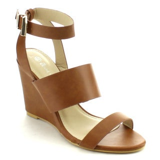 Anne Marie Women's 'Soho-33' Adjustable Ankle Wedge Dress Sandal