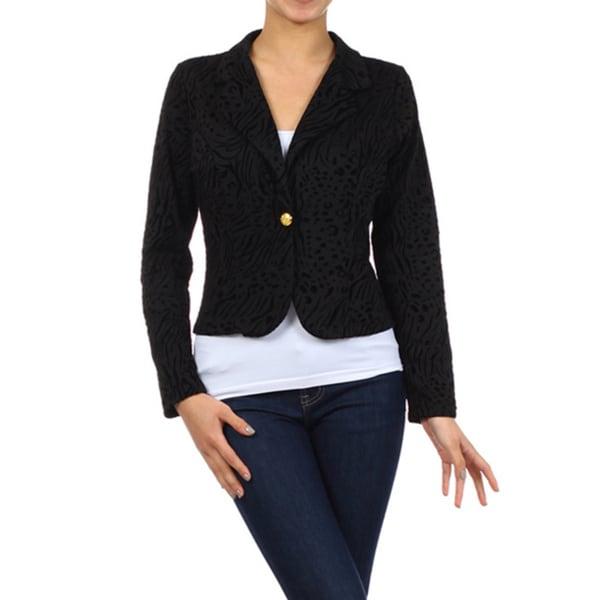 MOA Collection Women's Reg Textured Blazer