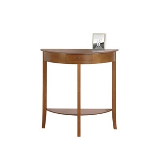 31-inch Oak Hall Console Accent Table