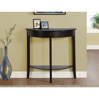 "ACCENT TABLE - 31""L / DARK CHERRY HALL CONSOLE"