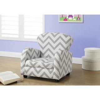 Grey Chevron Fabric Juvenile Chair