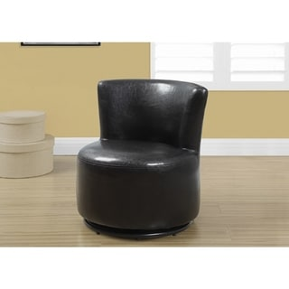 JUVENILE CHAIR - SWIVEL / DARK BROWN LEATHER-LOOK