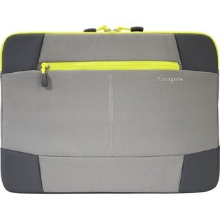 """Targus Bex II Carrying Case (Sleeve) for 14"""" Notebook - Gray, Yellow"""