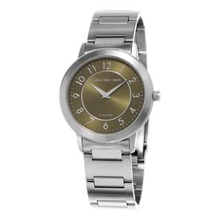 Calvin Klein Jeans Women's K8713150 'Continual' Green Dial Stainless Steel Bracelet Swiss Quartz Watch