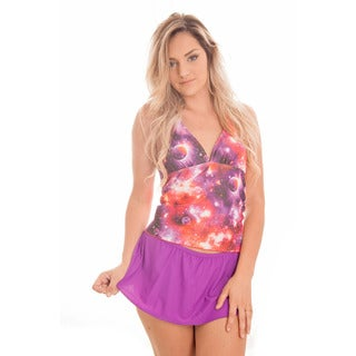 Dippin' Daisy's Women's Pink Cosmo Halter Skirt Tankini