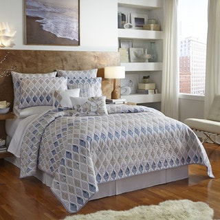 Shell Rummel Hour Glass Reversible Quilt and Sham Separates