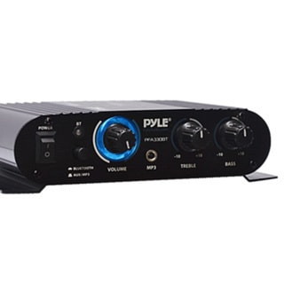 Pyle PFA330BT Bluetooth Mini Blue Compact Amplifier/ Aux (3.5mm) Input/ Push-Type Speaker Terminals/ 90 Watt Amp