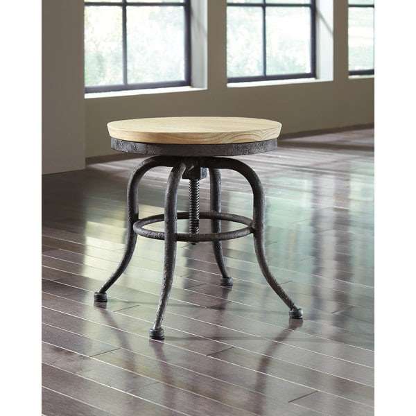 SB Signature Design by Ashley Shennifin Light Brown Stool