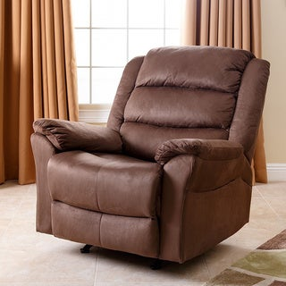 Abbyson Living Sydney Brown Rocker Recliner