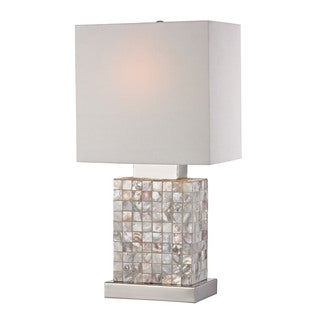 Sterling Mini Mother Of Pearl Lamp