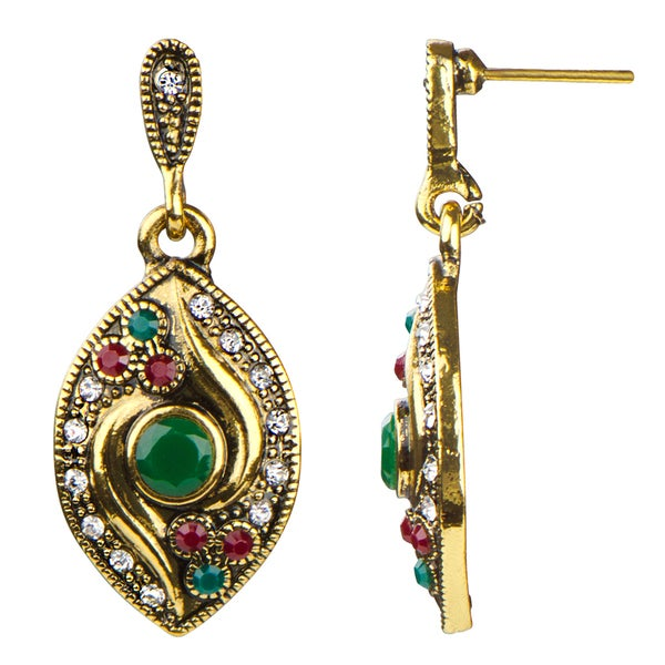 Antique Bollywood Dangle Earrings