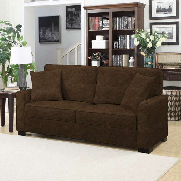 Portfolio Karsten SoFast Chocolate Brown Chenille Sofa
