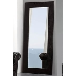 Luca Home Black Free Standing Mirror
