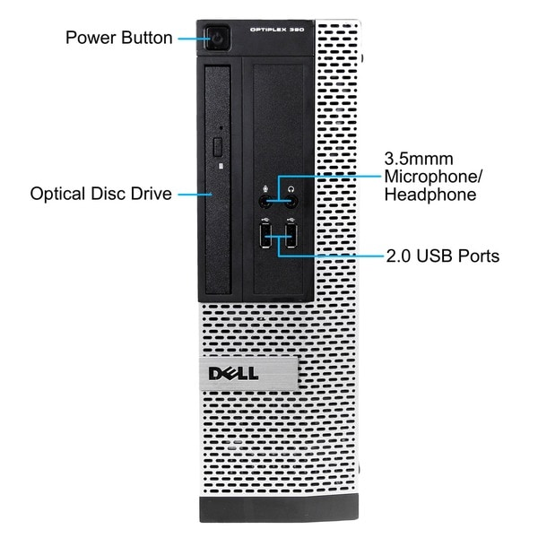 Dell OptiPlex 390 SFF 3.1GHz Intel Core i5 CPU 4GB RAM 500GB HDD Windows 8 Desktop (Refurbished)