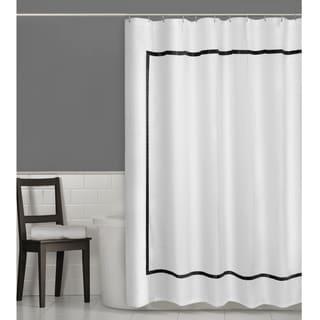 """Maytex Hotel Border Fabric Shower Curtain - 70"""" X 72"""""""