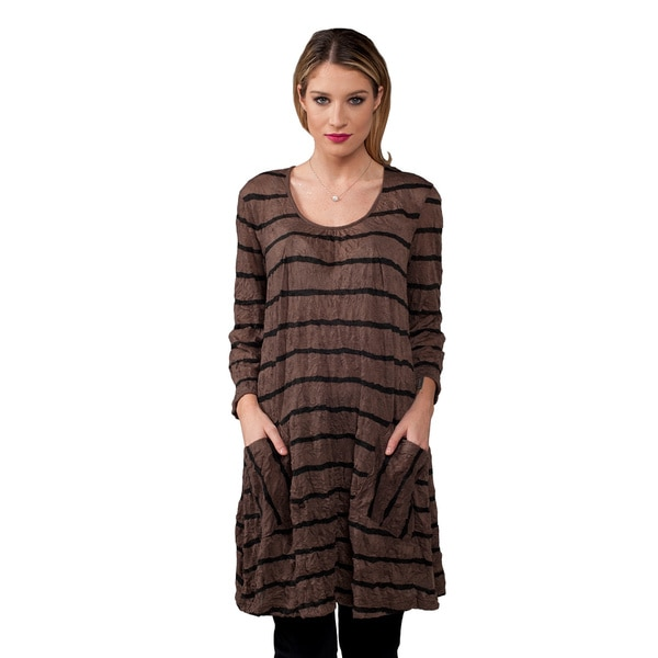 Paper Lace Women's Crushed Fabric Tunic