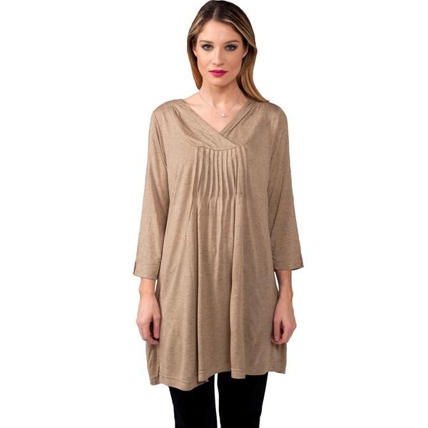 Women's Viscose Lycra 3/4 Sleeve Tunic