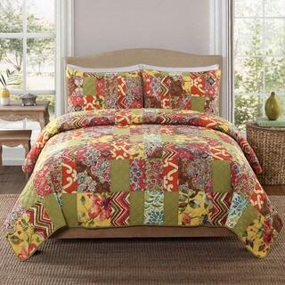 Nanette Cotton 3-piece Quilt Set