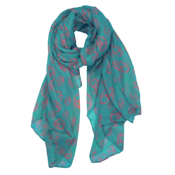 Peach Couture Fashionable Lightweight Peace Scarf