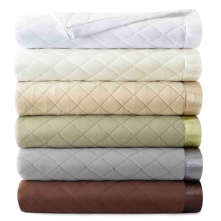 Micro Flannel Quilted Blankets
