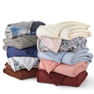 Shavel Micro Flannel® Reverse to Sherpa Blanket